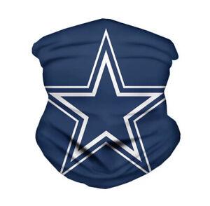 Dallas Cowboys Face Mask Neck Gaiter Ice Silk Bandanna Headband NFL Football