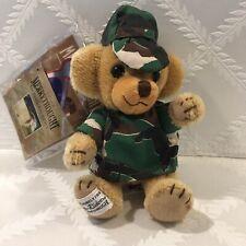 "Merrythought England Cheeky Bear Camo Uniform 6"" Mohair Limited Edition 48/250"