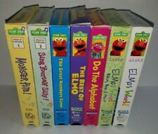 Lot of 7 Sesame Street VHS Tapes
