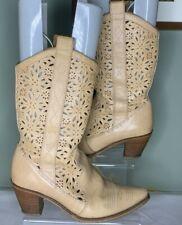 John Timpson Tan Leather  Cowboy Boots Size UK 6 / 39 (G2)