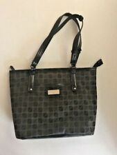 Nine & Co by Nine West Black & Off Black Squares Shopper Tote Fabric Purse