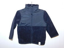 NWT Boys The Children's Place Black Fleece Trail Jacket Size 12/18 M Polyester
