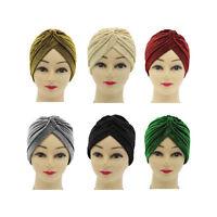 Musulmanes Mujeres Hombres Sombrero Invierno Otoño Cráneo Casquillo Turbante