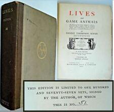 Rare 1927 Lives of Game Animals Vol III Ernest Thompson Seton 1st Ltd Ed 51/177