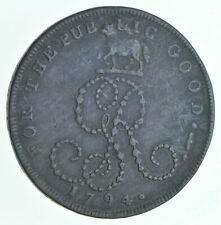 Better Date - 1794 Great Britain 1/2 Penny - Sussex World Coin Conder Token *843
