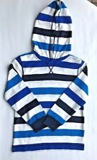 Gymboree Slope Star Boys Pullover Hoodie Shirt Striped Long Sleeves Sz 10 NWT