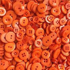 Jesse James Buttons ~ Dress It Up  ~ 1,000+ ORANGE ROUND SEWING BUTTONS CRAFTS