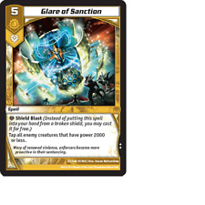 Kaijudo 3X GLARE OF SANCTION Uncommon #11/160 13GAU (Playset) Quest for Gauntlet