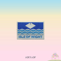 ISLE OF WIGHT UK County Flag With Name Embroidered Iron On Patch Sew On Badge