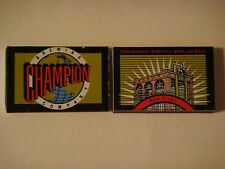 Matches Matchbook: Champion Brewing Co-Biloxi MS <>  CLOSED! See Store For More