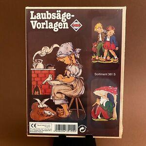 🎁 Laubsäge-Arbeit Vorlage von Pebaro: 3er-Set in OVP! Süßes Aschenputtel Zwerg