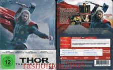 Blu-Ray 3D THOR 2 THE DARK KINGDOM Chris Hemsworth Limited German Steelbook NEW