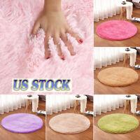 Fluffy Rugs Anti-Skid Soft Shaggy Area Rug Dining Room Bedroom Carpet Floor Mat
