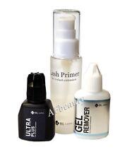 BL /Blink Eyelash Extension Liquids Set: Ultra Plus Glue, Primer, Gel-remover