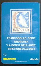 2004   Italia  Tessera Filatelica  La donna nell'Arte   0,65