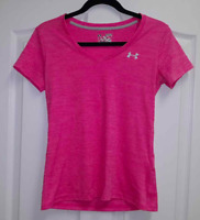 WOMEN'S UNDER ARMOUR LOOSE HEAT GEAR PINK TOP TEE T-SHIRT XS X-SMALL EUC