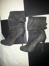 High (3 in. and Up) Heel Suede Mid-Calf Boots for Women