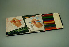 Rare Set of 12 Vintage Old Color Pencils Koh-I-Noor Technicolor 1741  in Box