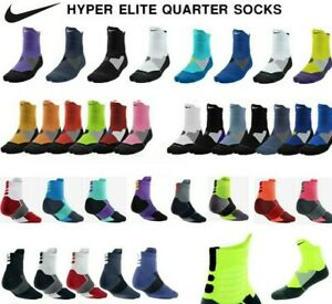 Nike Dry Hyper Elite Cushioned Quarter Basketball Dri-Fit Socks