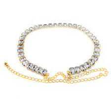 Gold Diamanté/Diamond Ladies Waist Chain/Charm Belt - One Size Fits All - 696
