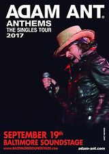 "ADAM ANT ""ANTHEMS THE SINGLE TOUR 2017"" BALTIMORE CONCERT POSTER- New Wave Music"