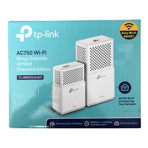 TP-Link TL-WPA7510 KIT AV1000 Gigabit Powerline / AC750 WiFi Range Extender Kit