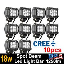 10x 4inch 18W CREE LED WORK LIGHT BAR Spot offroad 4X4 ATV car truck tractor 27W