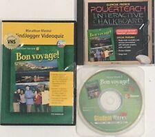 Glencoe French 2 Bon Voyage High School Curriculum CDs Homeschool Bundle