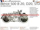 BLERIOT 500 B20 D20 STD 1919 Fiche Moto 000153