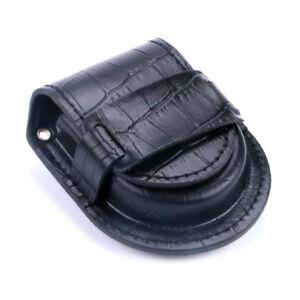 Bronze/Silver/Golden Vintage Pocket Watch 38cm Chain Crocodile PU Leather Bag