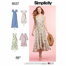 Simplicity Sewing Pattern 8637 Misses Sz 16-24 Wrap Dresses Ruffle Hem Options