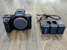 Sony Alpha A7 II 24.3MP Digital Camera with three batteries and charger