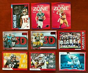 2020 SCORE FOOTBALL RED PARALLEL INSERTS CARD YOU PICK PLAYER FREE SHIPPING