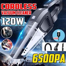 120W Cordless Car Vacuum Cleaner Electric Portable Wet/Dry HEPA Handheld Duster