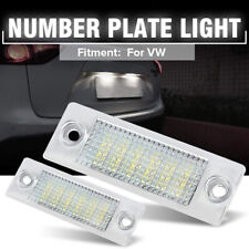 2x LED License Number Plate Light For VW T5 Caddy Golf Jetta Passat Superb Skoda