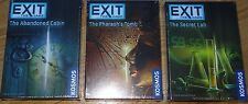 Set of 3 Exit the Games Secret Lab, Pharaoh's Tomb, Abandoned Cabin  Escape Room