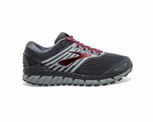 Brooks Beast '18  Men's running Shoes 1102822E030 Ebony/Primer/Red Size 10 (2E)