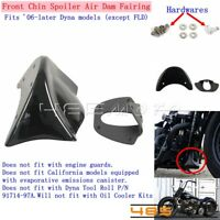 1X Front Chin Spoiler Air Dam Fairing W/ Hardwares For Harley Dyna FXDWG 2006-Up