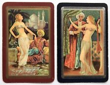 Pair of Vintage Swap/Playing Cards - BEAUTIFUL HAREM LADIES