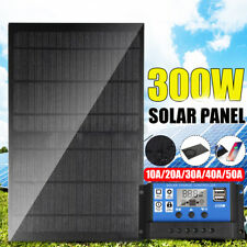 300 Watts Solar Panel Kit 50A 12V Battery Charger with Controller Caravan Boat