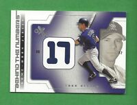 2002 E-X BEHIND THE NUMBERS TODD HELTON GAME-USED JERSEY #9 COLORADO ROCKIES