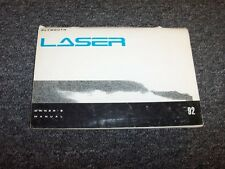 1992 Plymouth Laser Hatchback Original Owner's Owner Guide Manual RS 1.8L 2.0L