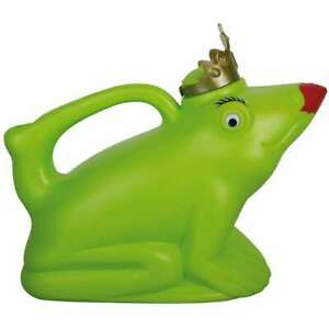 Esschert Watering Can FROG QUEEN (Green - Plastic) (TG134)