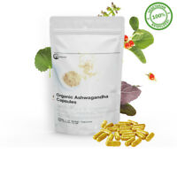 Ashwagandha Capsules | Herbal 5-HTP Depression Insomniac Anxiety Fatigue Calming