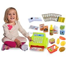 Toddler Toy Plastic Baby Shopping Cashier Toy Set Supermarket Cash 26PCS CO99