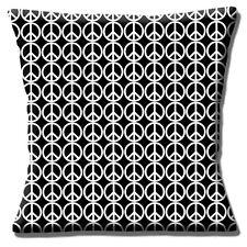 """Nuevo de paz con el logotipo CND toda impresión Negro Blanco De 16 """"Almohada cojín"""