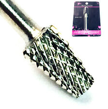 USA High Quality Silver Cone Shape CARBIDE Bit 3/32 Electric DRILL Nail Art CB14