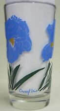 Dwarf Iris Peanut Butter Glass Glasses Drinking Kitchen Mauzy 56-1