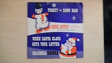 """Vintage Columbia Records Gene Autry FROSTY THE SNOWMAN 10"""" 78rpm 50s"""