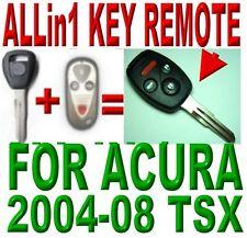 04-08 ACURA TSX ALLin1 TRANSPONDER CHIP KEY KEYLESS ENTRY TRANSMITTER REMOTE FOB